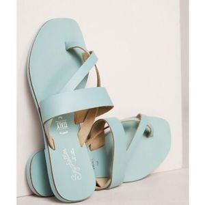 Anthropologie Seychelles Blue Leather Sandals